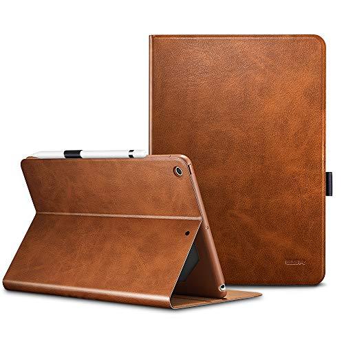 ESR Urban Premium Folio Case for iPad 9.7 2018/2017, [Apple Pencil Holder], Book Cover Design, Multi-Angle Viewing Stand, Smart Cover Auto Sleep/Wake for iPad 9.7' 2018/2017 (Brown)
