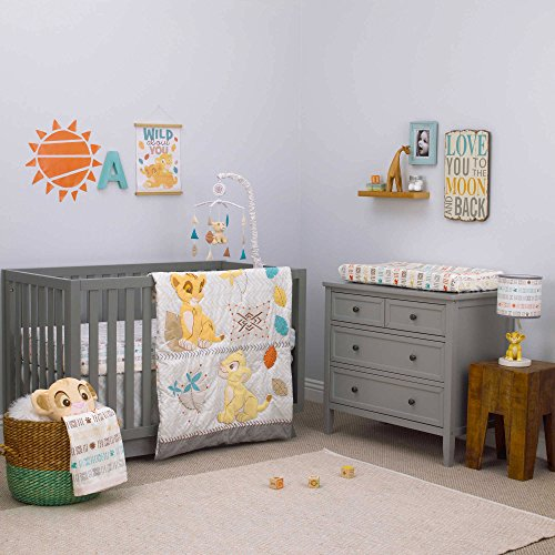Lion King Circle of Life 3 Piece Baby Crib Bedding Set by Disney