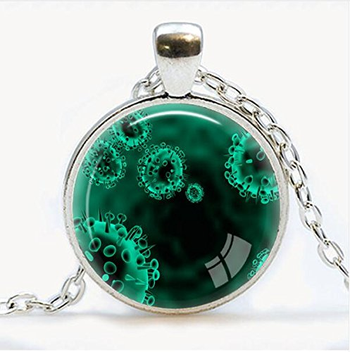 Virus Pendant Virology jewelry Virus necklace Microbe biology pendant science gift microscopic view of a virus Pendants (4)