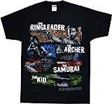 The Walking Dead Four Survivors Adult T-shirt Black XL