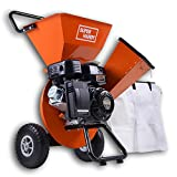 SuperHandy Wood Chipper Shredder Mulcher 7HP Gas Powered Max 3' Chipping Capacity Ultra Heavy Duty 3 in 1 Multi-Function Capable (Amazon Exclusive only for USA)