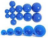 12 Cups Silicone Medical Vacuum Massage Cupping Cups Health Care Travel Set(blue)