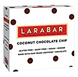 Larabar Gluten Free Bar, Coconut Chocolate Chip, 1.6 oz Bars (5 Count), Whole Food Gluten Free Bars, Dairy Free Snacks