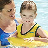 SwimSchool Deluxe TOT Swim Trainer Vest, Heavy Duty, Inflatable Tube with Adjustable Safety Strap, 2-4 Years, Canary/Yellow