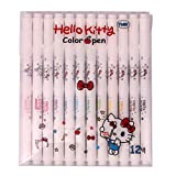 Hello Kitty Water-based Twin Tip Color Markers Pen with (Pack of 12)