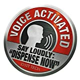 Voice Activated Say Loudly Dispense Now (2 pack) - Sticker