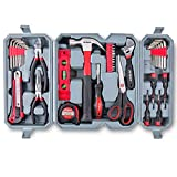 Hi-Spec 50 Piece Home Tool Set of Hand Tools - Claw Hammer, Adjustable Wrench, Precision Screwdrivers, Screw Bits, Long Nose Pliers, Side Cutters, Torpedo Level, Bit Driver & Tool Box Kit
