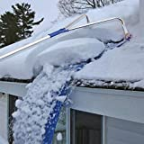 QWE Roof Snow Rake Removal Tool 20 Ft with Adjustable Telescoping Handle Rooftop Snow Rake Removal Tool Adjustable Extendable