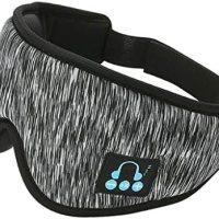 IPOTCH uyku kulaklığı, 3D göz maskesi, Bluetooth 5.0 kablosuz müzik maskesi, göz farı kapağı, göz farı kapağı, erkek kadın uyku, seyahat için, koyu gri 17