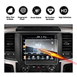 2013-2018 Dodge Ram 1500 2500 3500 Uconnect Touch Screen Car Display Navigation Screen Protector, RUIYA HD Clear Tempered Glass Car in-Dash Screen Protective Film (New 8.4-Inch)