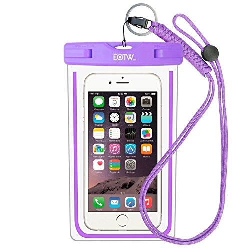 EOTW IPX8 Universal Waterproof Case for Smartphone Device to 6.5' Fit for iPhone Xs Max XS XR X 8 7Plus 6 6S Samsung Galaxy s8/s8plus/s7 Google Pixel HTC10 for Water Parks/Beach/Cruise/Pools