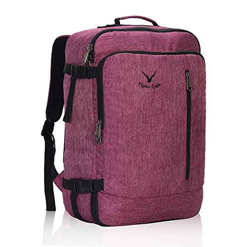 Hynes Eagle 38L Flight Approved Weekender Carry on Backpack Red Violet