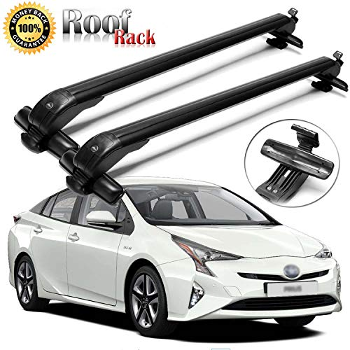 SIKY Roof Rack 43' Adjustable Aluminum Roof Rack Cross Bars Top Luggage Carrier for Toyota Prius 2002-2016(2Pcs)