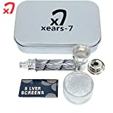 XEARS- PIPE Mini Grinder kit zinc Alloy Jamaican Style, This is a Very Good Gift (Black)