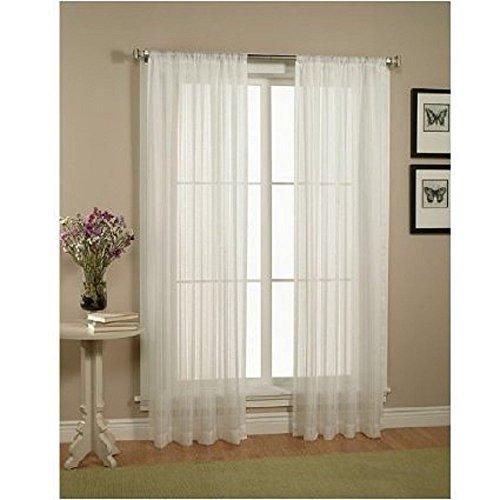 Wpm 2 Piece Beautiful Sheer Window Elegance Curtainsdrape