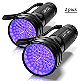 LOFTEK 2-Pack UV Flashlight Black Light, 51 LEDs 390-395 nm Ultraviolet Blacklight, Portable and Perfect Tool for Scorpion Hunting, Pet Urine and Stains Detecting, Hotel Sanitary Inspection