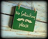 No Soliciting Sign Farmhouse Style Country Home Porch Decor