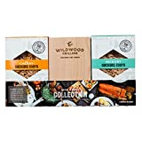 Grilling Gift Set - Grilling Planks Sampler (Cedar, Alder, Cherry, Hickory, Maple) + Hickory & Cherry Smoking Chips...