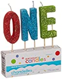 'O-N-E' Glitter Candles, Party Favor