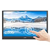 G-STORY 15.6 Inch Ultrathin Touchscreen, FHD 1080P Portable Monitor, NS Direct-Connected/TN Panel/Mini HDMI/Built-in Speakers/HDR/FreeSync/Type-C/60Hz/4ms/220cd/m2