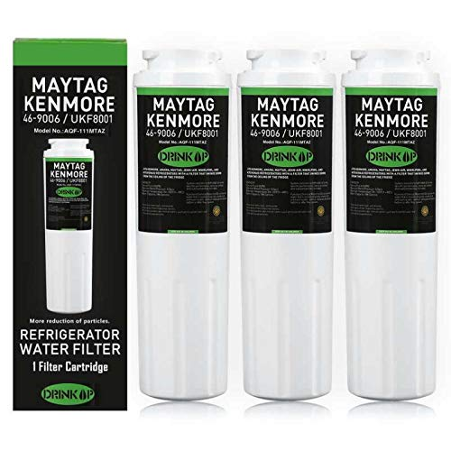 UKF8001 Water Filter Compatible Maytag UKF8001 UKF8001AXX UKF8001P, PUR Jenn-Air UKF8001, EDR4RXD1, Whirlpool 4396395, EveryDrop Filter 4, Puriclean II, 469006 (Pack of 3)