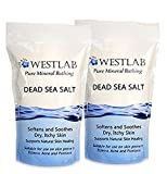 Dead Sea Salt Mineral Bathing (Soothing, for Irritated Skin) 2 Pack (4.4 lb total)