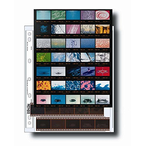 Print-File-35mm-Size-Negative-Pages-Holds-Seven-Strips-of-Five-Frames-with-Contact-Sheet-Pack-of-25