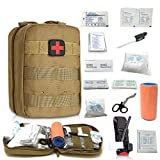 Emergency Trauma Tactical Kit - First Aid SurvivalKit - First Medical Portable Kit for Military Car Boat Home Office Hiking Camping Hunting Travel Adventures Earthquake - Survival Gear Kit Medical