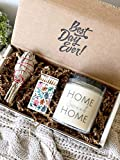 New Home Housewarming Gift - Sage Smudge Stick with Lavender & Sage Soy Candle Set