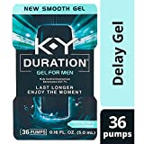 Duration Gel for Men, K-Y - Male Genital Desensitizer 0.16 oz (36 pumps), Condom Compatible Endurance Enhancing Delay Gel To Help Men Last Longer In Bed