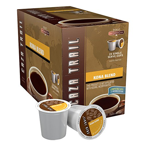Caza Trail Coffee, Kona Blend, 24 Single Serve Cups, 9.73 Oz