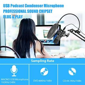 USB-Microphone-MAONO-A04-Plus-Cardioid-Condenser-Podcast-Mic-192kHz24bit-Plug-and-Play-Provide-Two-Mic-Holders-for-Livestreaming-Voice-Over-YouTube-Gaming-ASMR