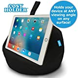 COSY HOLDER Pumpkin Beanbag Cushion - Tablet & E-Reader (eBook) Holder/Stand. Ideal for iPad, Samsung Galaxy, Kindle & Books. Holds Your Device at Any Viewing Angle. Ideal for Home or Travel (Black)