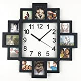 Timelike DIY Frame Clock, DIY Wall Clock Modern Design DIY Photo Frame Clock Plastic Art Pictures Clock Unique Klok Home Decor - Make Your Own Multi-Photo Clock