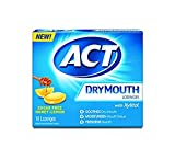 ACT Dry Mouth Honey Lemon Lozenges, 18 Lozenges Each (6)