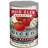 Muir Glen Organic Fire Roasted Diced Tomatoes No Salt Added, 14.5 oz