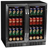 Edgestar 160 Can 30' Built-In Side-by-Side Beverage Cooler