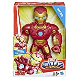 Super Hero Adventures Playskool Heroes Marvel Mega Mighties Iron Man Collectible 10' Action Figure, Toys for Kids Ages 3 & Up