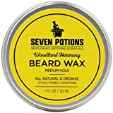 Seven Potions Beard Wax 1 oz. Natural And Organic Beard Styling Wax For Medium Hold. Shape And...
