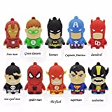 Cartoon Batman/Superman/Ironman Minions USB 2.0 Memory Stick Flash pen Drive 8GB 1 piece 1 price