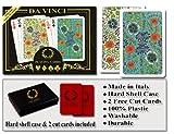 Da Vinci Fiori, Italian 100% Plastic Playing Cards, 2-Deck Set, Poker Size, Jumbo Index
