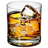 1969 50th Birthday Whiskey Glass for Men and Women - Vintage Funny Anniversary Gift Idea for Him, Her, Husband, Wife - 50 Year Old Gifts for Mom, Dad - Party Favors, Decorations - 11 oz