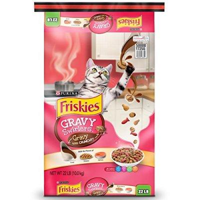Purina Friskies Dry Cat Food, Gravy Swirlers – 22 lb. Bag