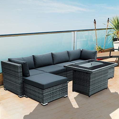 Nicesoul 118 L Pe Rattan Patio, Patio Furniture Couch