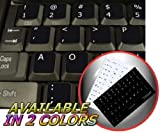4Keyboard Dvorak Simplified Non-Transparent Keyboard Stickers Black Background for Desktop, Laptop and Notebook