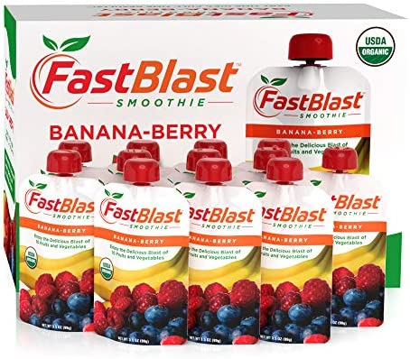 FastBlast Banana-Berry Smoothie. Supports Intermittent Fasting. Controls Appetite and Maintains Energy. USDA Certified Organic, Vegan, Non-GMO, Soy Free & No Added Sugar (12 Units) 3