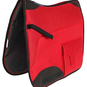 Professional Equine Horse English Endurance Non-Slip Neoprene Dressage Saddle Pad w/Pockets 6401RD