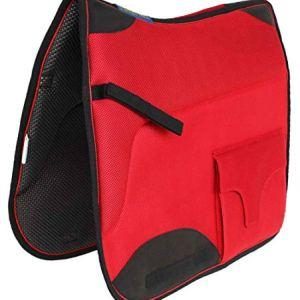 Professional Equine Horse English Endurance Non-Slip Neoprene Dressage Saddle Pad w/Pockets 6401RD
