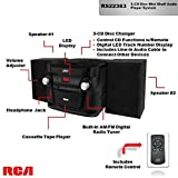 RCA (RS22363) 3-Disc CD Stereo Audio Shelf System - Digital AM/FM Tuner with Station Memory and Line-in Connectivity