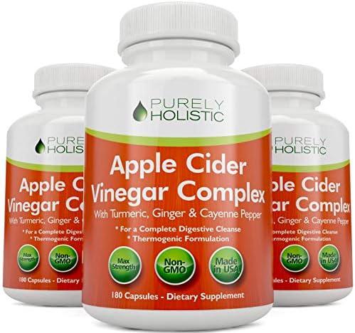 Apple Cider Vinegar Capsules, - 180 Vegan ACV Capsules, High Strength Apple Cider Vinegar Pills, Purely Holistic 6